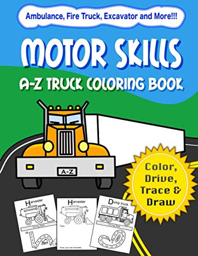 Motor Skills Truck Coloring Book Cover