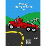 Motor Skills Truck Coloring Book Back Cover