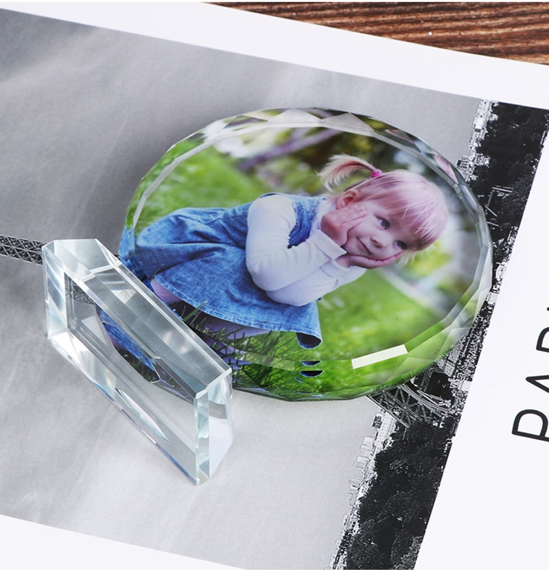Customized Crystal Photo Frame Wedding Photo Album Personalized Laser Engraved Picture Glass Photo Frame Ornament Souvenir Gift