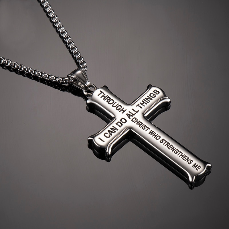 Men's Stainless Steel Cross Necklace