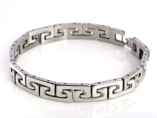 Men Silver Stainless Steel Link Chain Bracelets