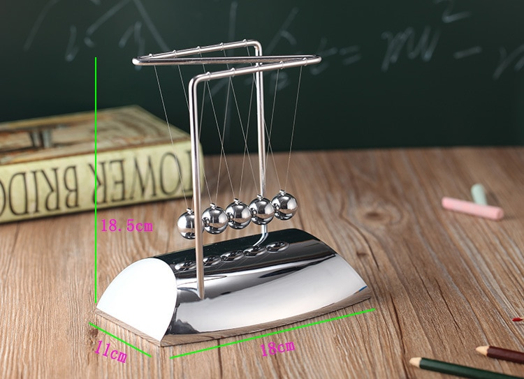 Newtons Cradle Steel Balance Ball Physics Science Pendulum Metal Craft Educational Toy Home Desk Decoration girl kids toy gift